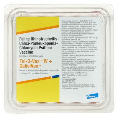 Fel-0-Vax IV + Calicivax -Elanco  - 25 doses