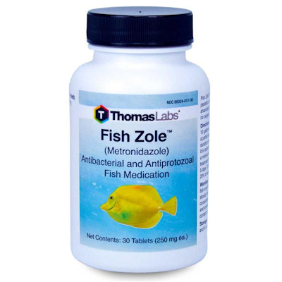 Metronidazole - Fish Zole - 250mg/30 tablet bottle