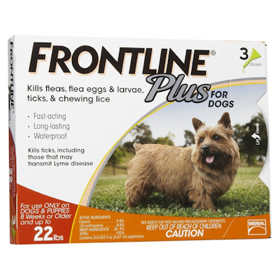 Frontline Plus for Canines 8 Weeks of Age to 22 lbs