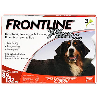 Frontline Plus Dogs 89-132lbs ,3 month