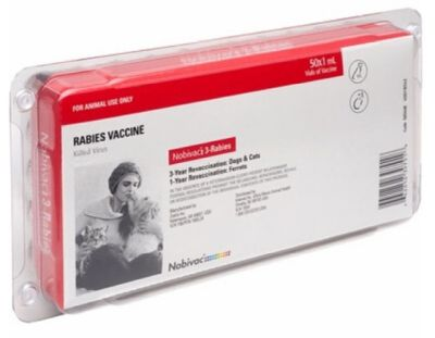 Nobivac 3 Rabies - 3 year - 50 single dose tray