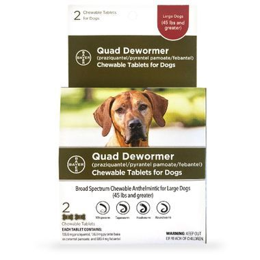 Quad Dewormer-For all Dogs 45- 120 lbs