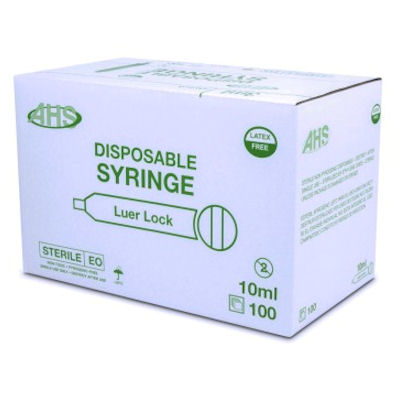 Box of 100 - 10 ml Syringes -Leur Lock